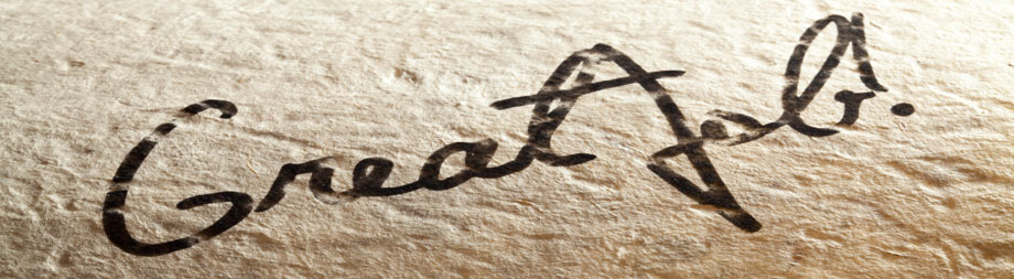 Close up of a signature