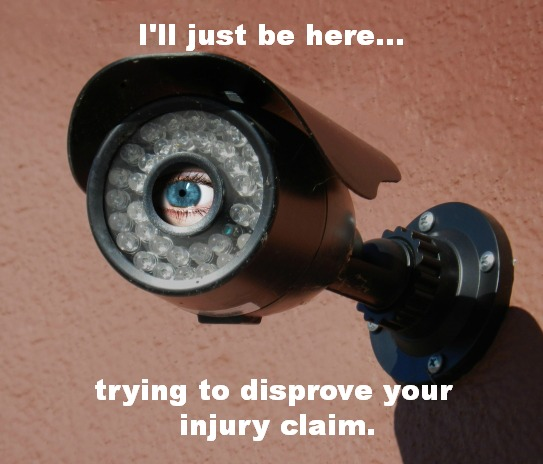 Insurance adjuster surveillance